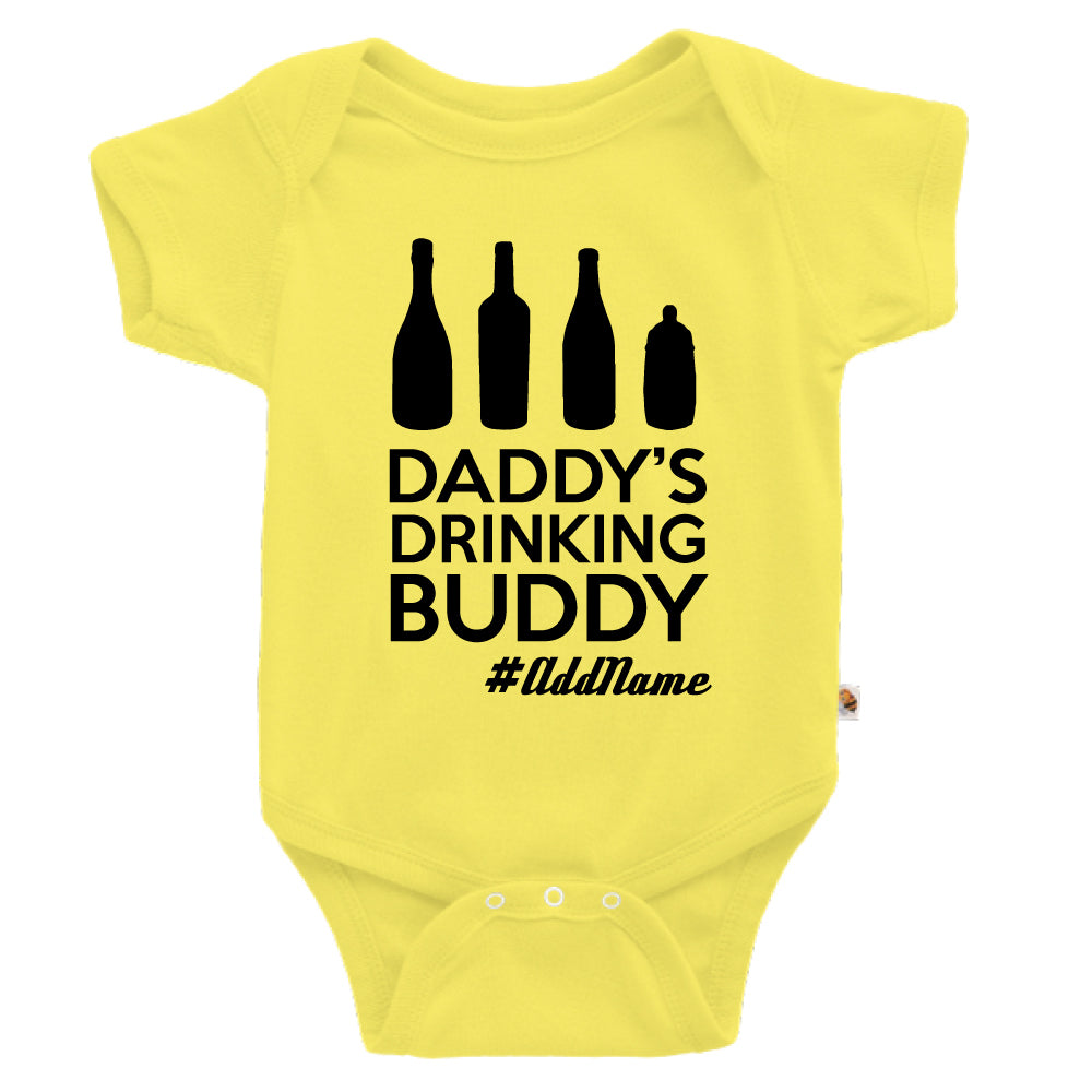 Teezbee.com - Daddy's Drinking Buddy - Romper (Light Yellow)