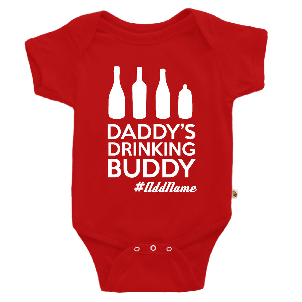 Teezbee.com - Daddy's Drinking Buddy - Romper (Red)