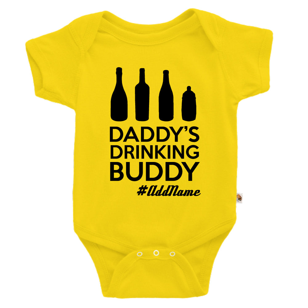 Teezbee.com - Daddy's Drinking Buddy - Romper (Yellow)