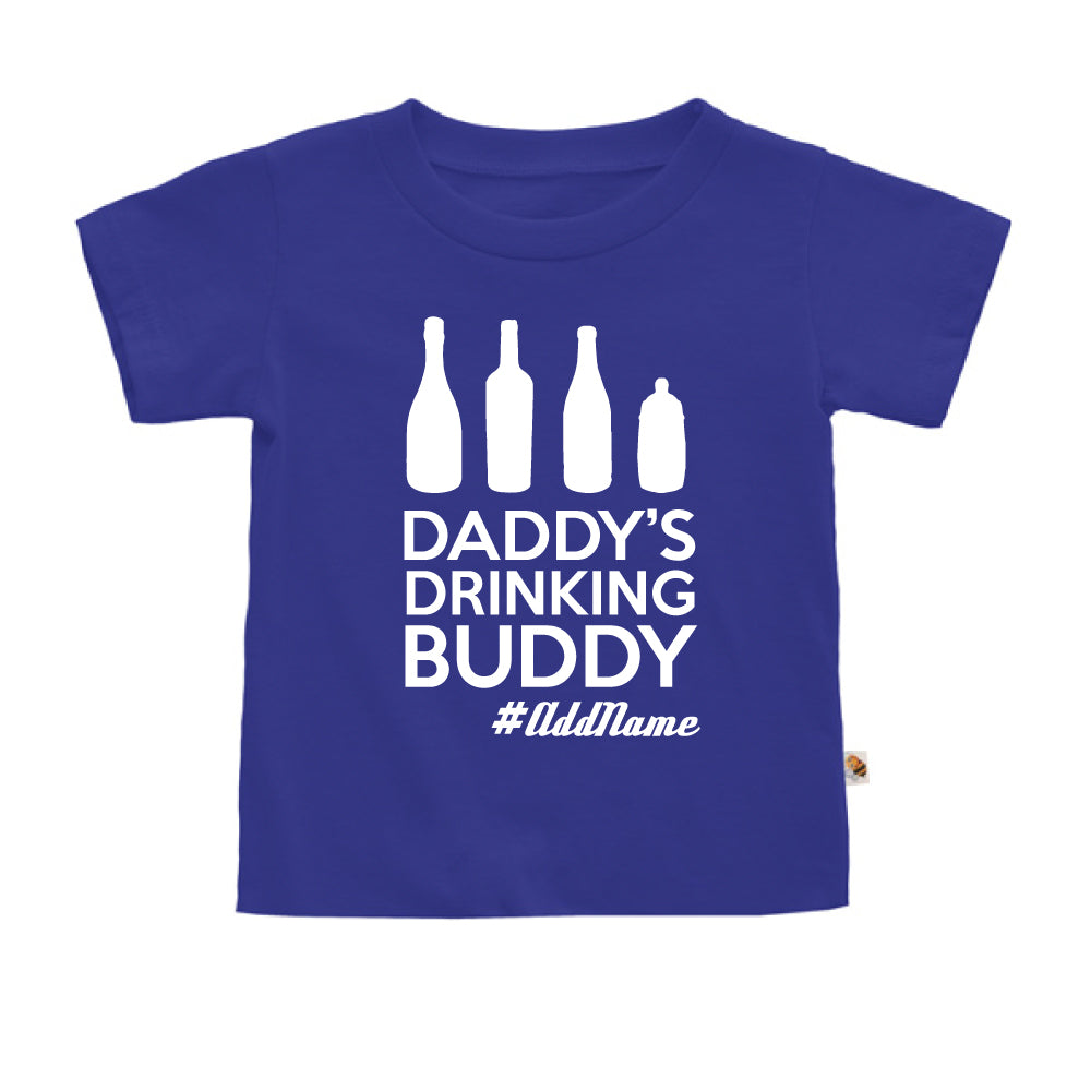 Teezbee.com - Daddy's Drinking Buddy - Kids-T (Blue)