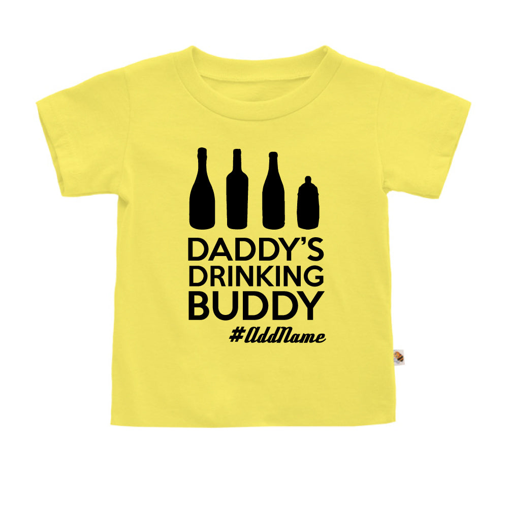 Teezbee.com - Daddy's Drinking Buddy - Kids-T (Light Yellow)