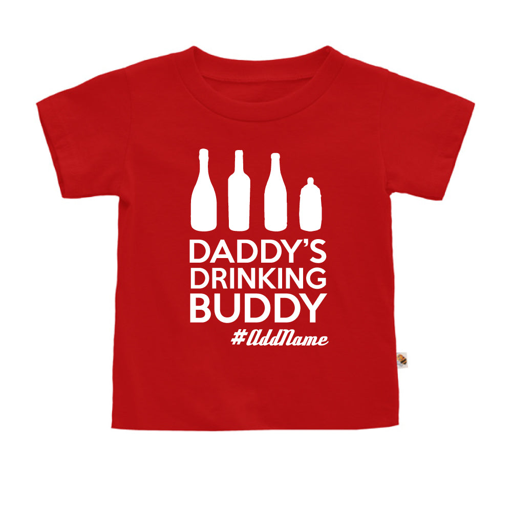 Teezbee.com - Daddy's Drinking Buddy - Kids-T (Red)