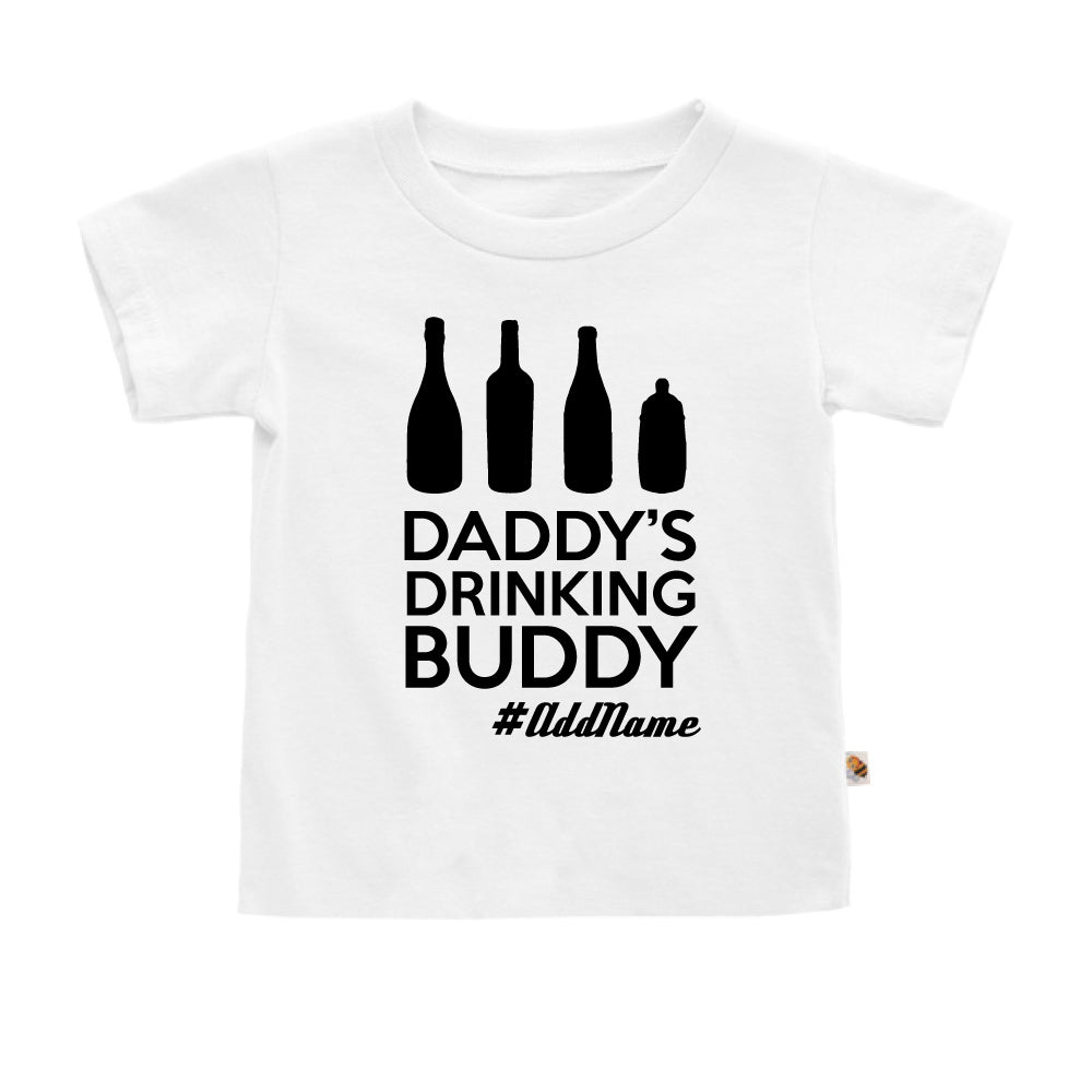Teezbee.com - Daddy's Drinking Buddy - Kids-T (White)