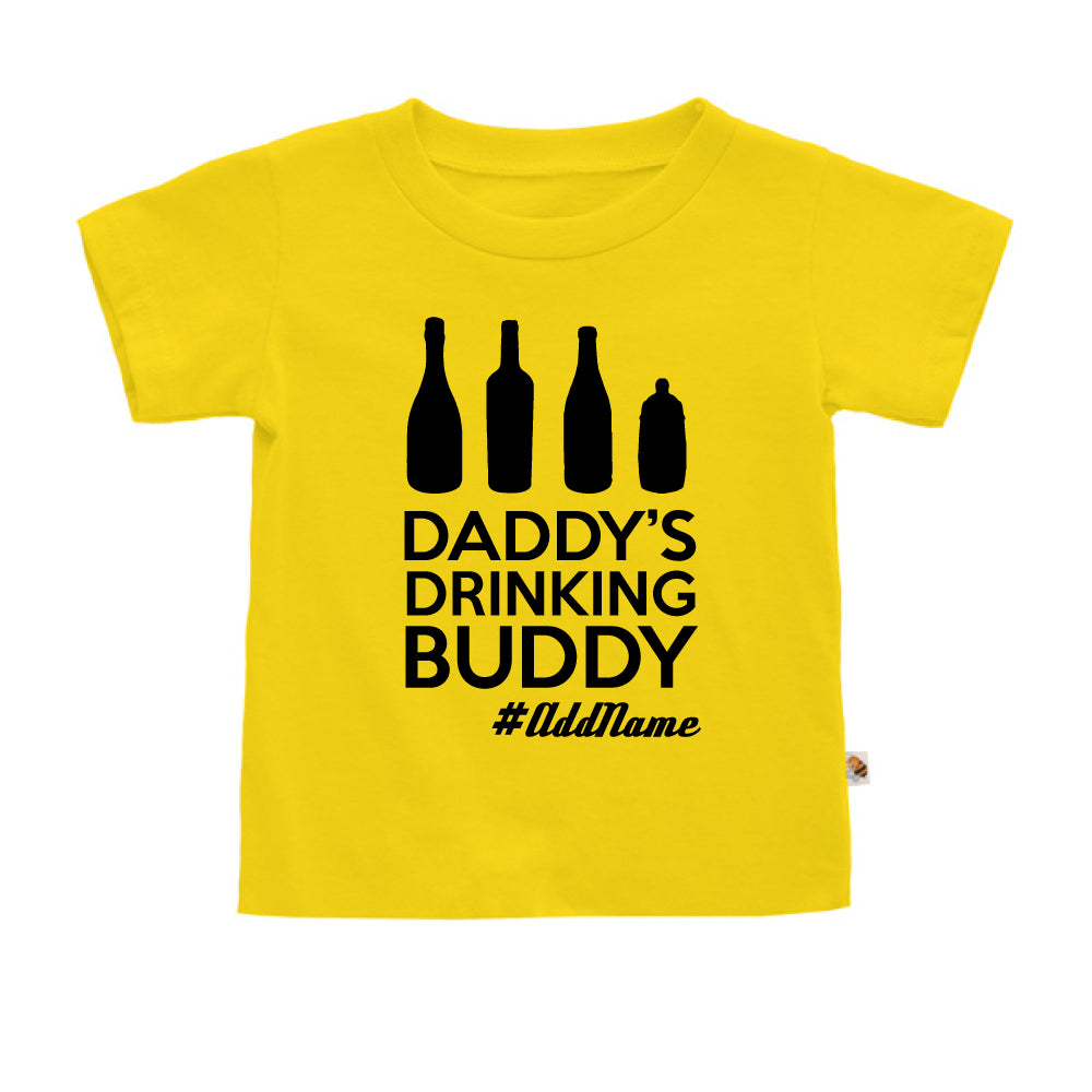 Teezbee.com - Daddy's Drinking Buddy - Kids-T (Yellow)