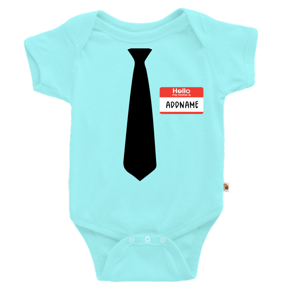 Teezbee.com - Hello Tie - Romper (Light Blue)