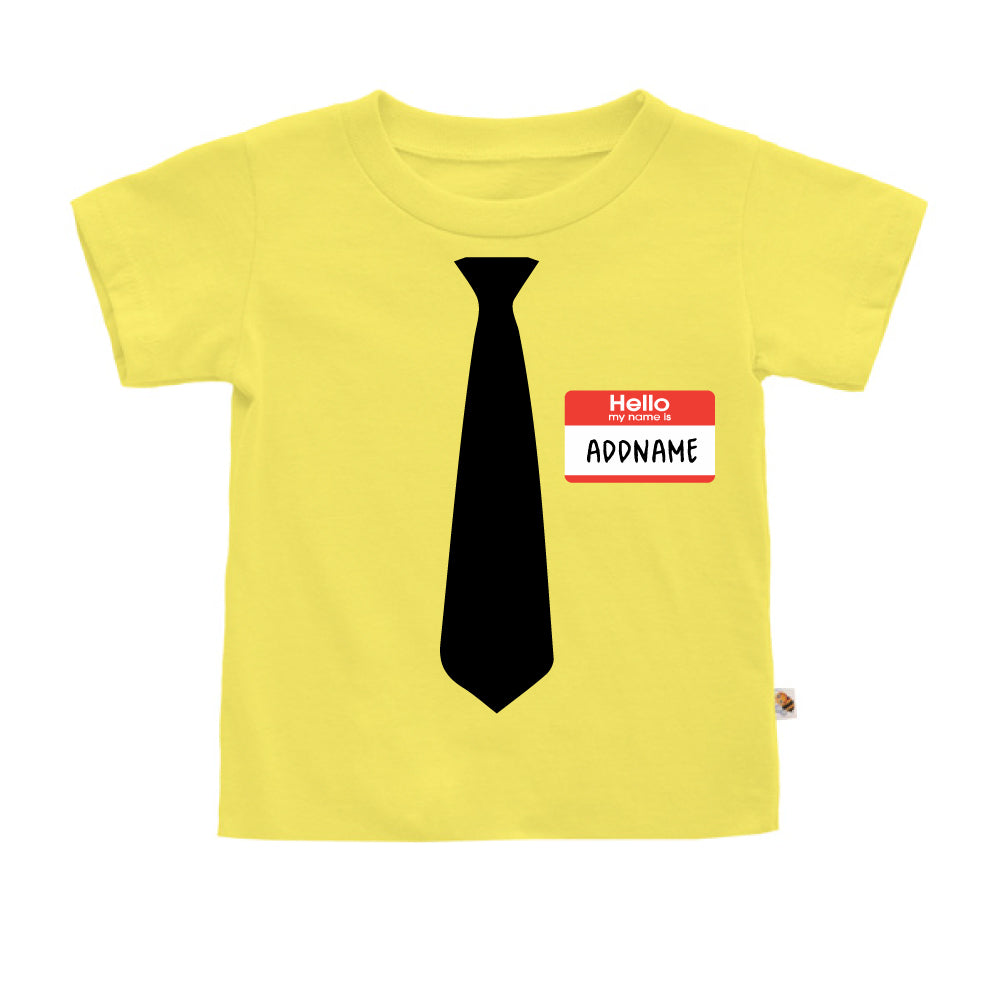 Teezbee.com - Hello Tie - Kids-T (Light Yellow)