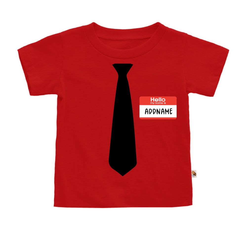 Teezbee.com - Hello Tie - Kids-T (Red)