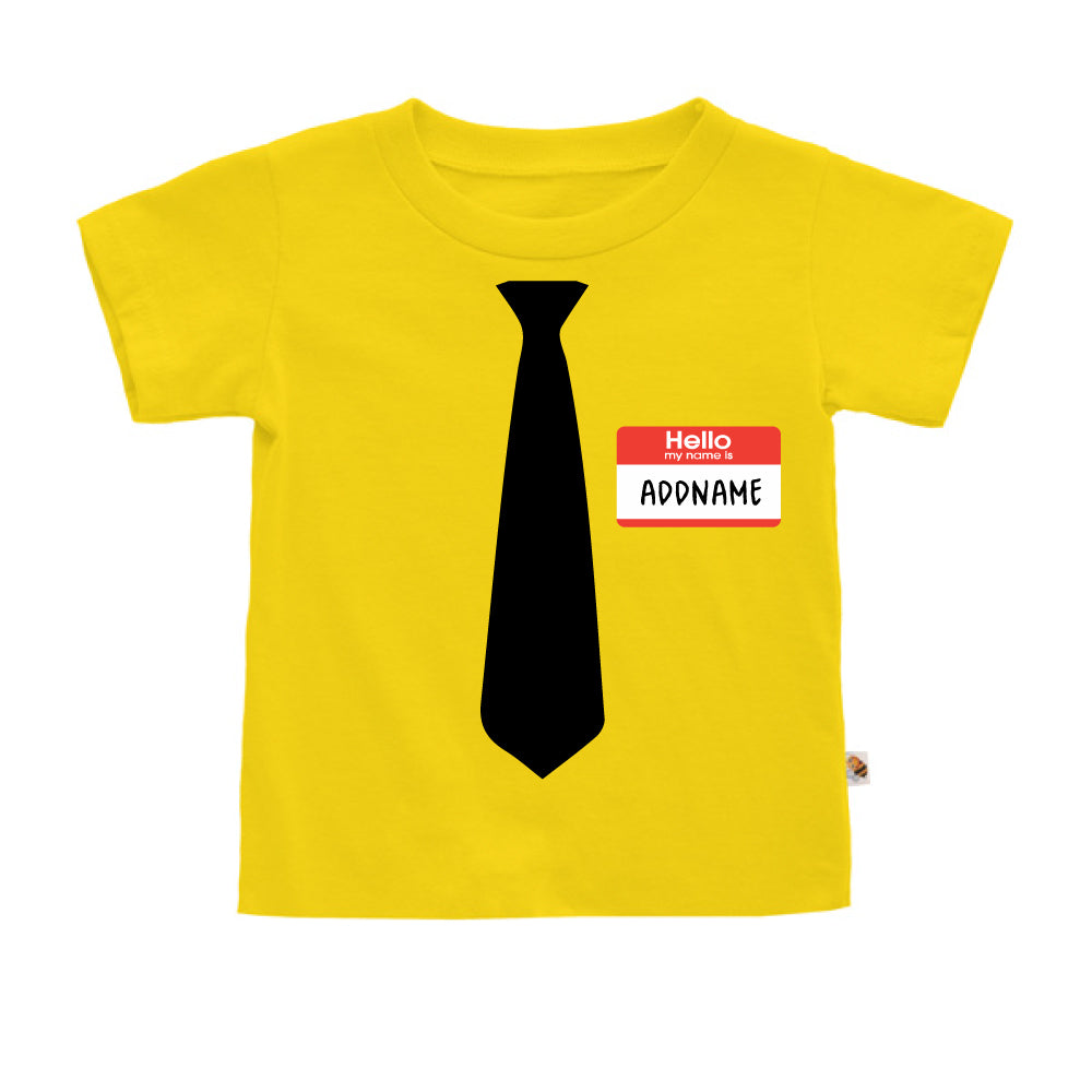 Teezbee.com - Hello Tie - Kids-T (Yellow)
