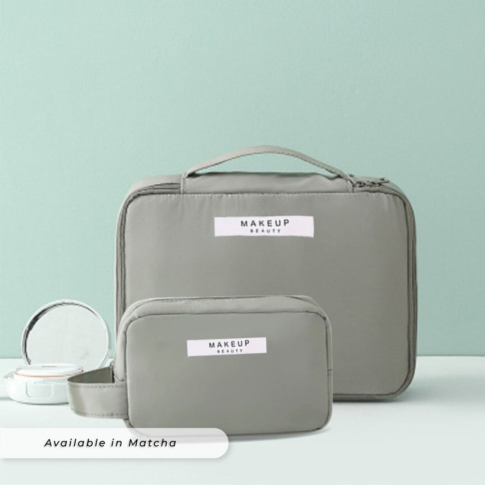 Teezbee.com - Personalised Cosmetic Pouch Set (Matcha)