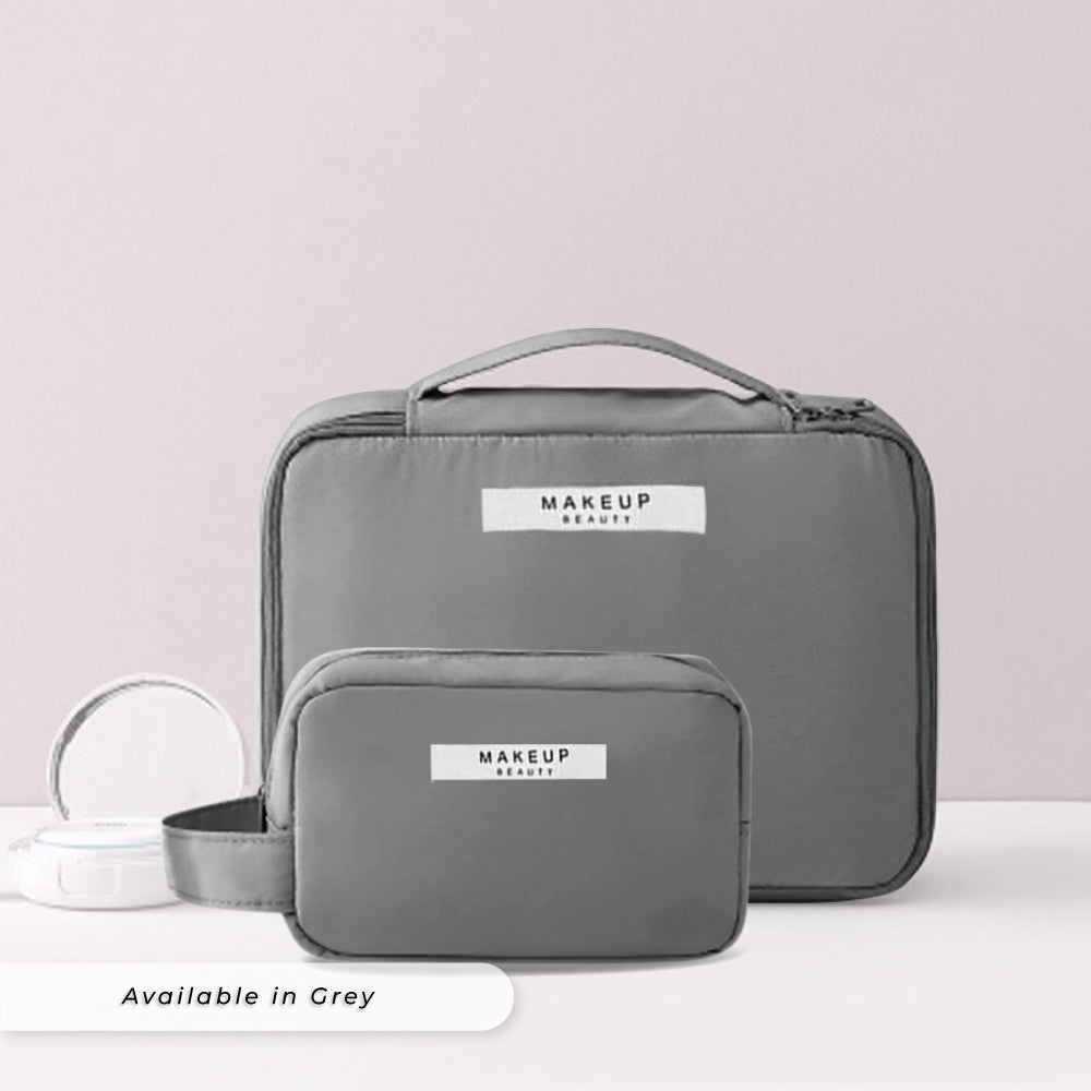 Teezbee.com - Personalised Cosmetic Pouch Set (Grey)