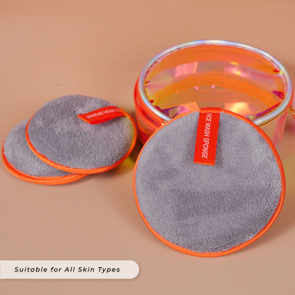 Teezbee.com - Face Wash Sponge with Personalised Pouch