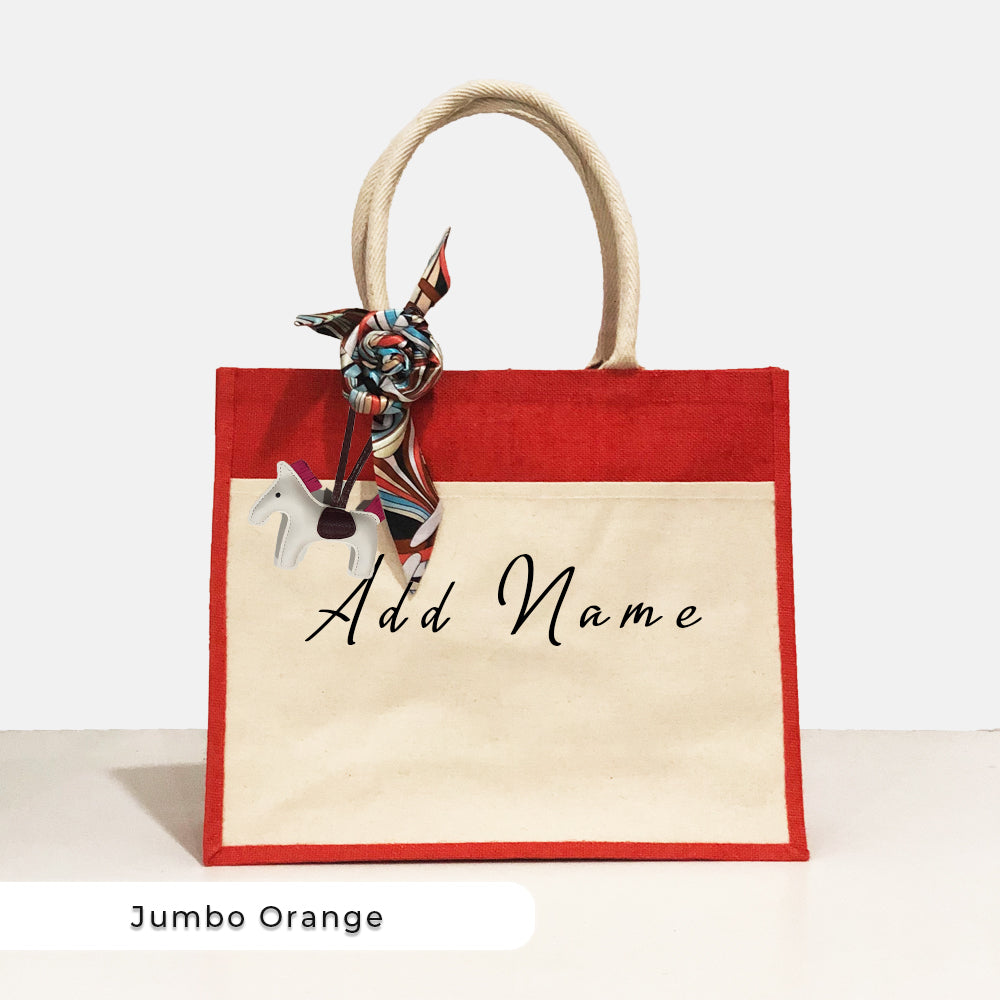 Teezbee.com - Lux JUMBO Tote Bag (Orange)
