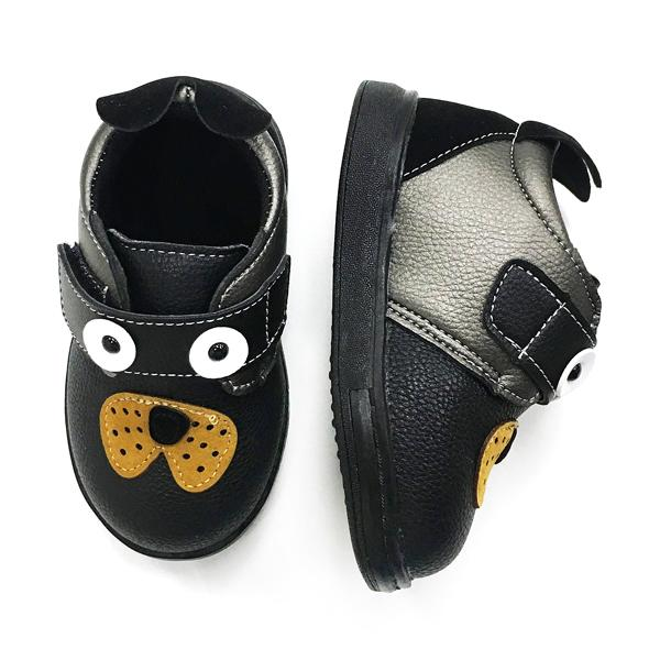Babylah.com - Lovely Puppy Leather Shoes (Black)