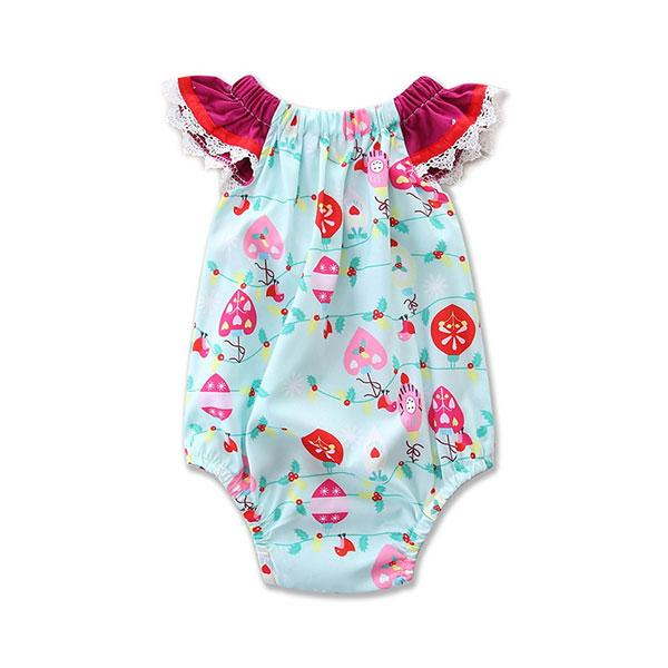 Babylah.com - Sweet Floral Pattern with Headband Set
