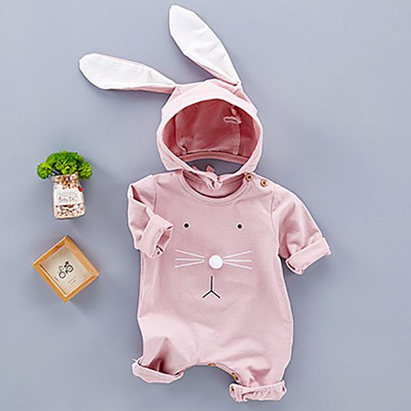 Cute Romper With Bunny Hat
