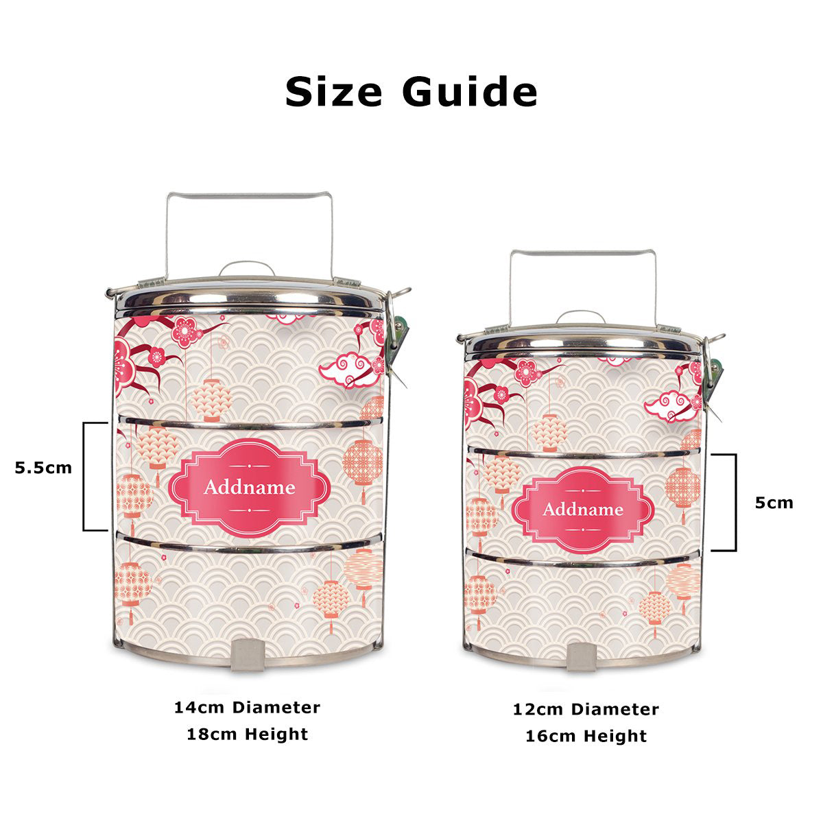 Teezbee.com - Sakura Tiffin Carrier (Size Guide)