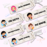 Teacher Characters Straw Set
