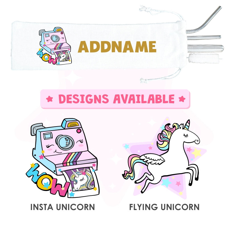 Teezbee.com - Unicorn Straw Set