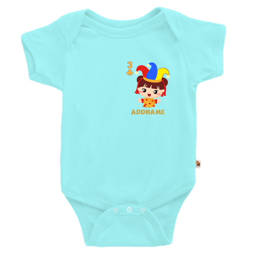 Teezbee.com - Pocket Girl 3 - Romper (Light Blue)