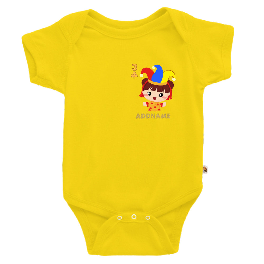 Teezbee.com - Pocket Girl 3 - Romper (Yellow)