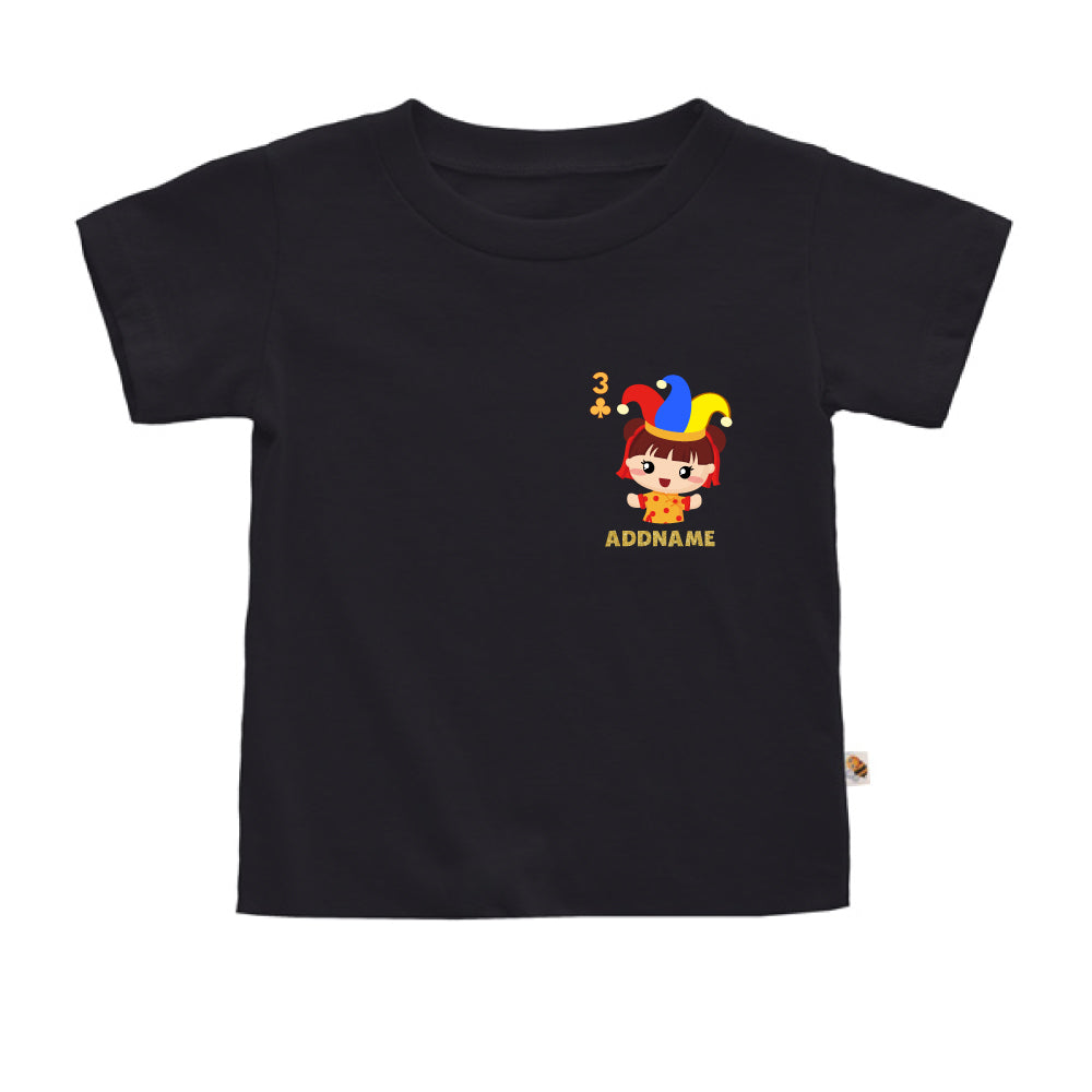 Teezbee.com - Pocket Girl 3 - Kids-T (Black)