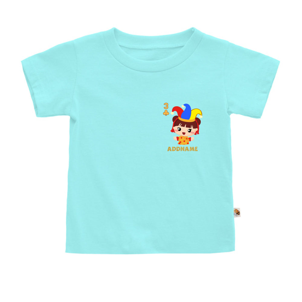 Teezbee.com - Pocket Girl 3 - Kids-T (Light Blue)