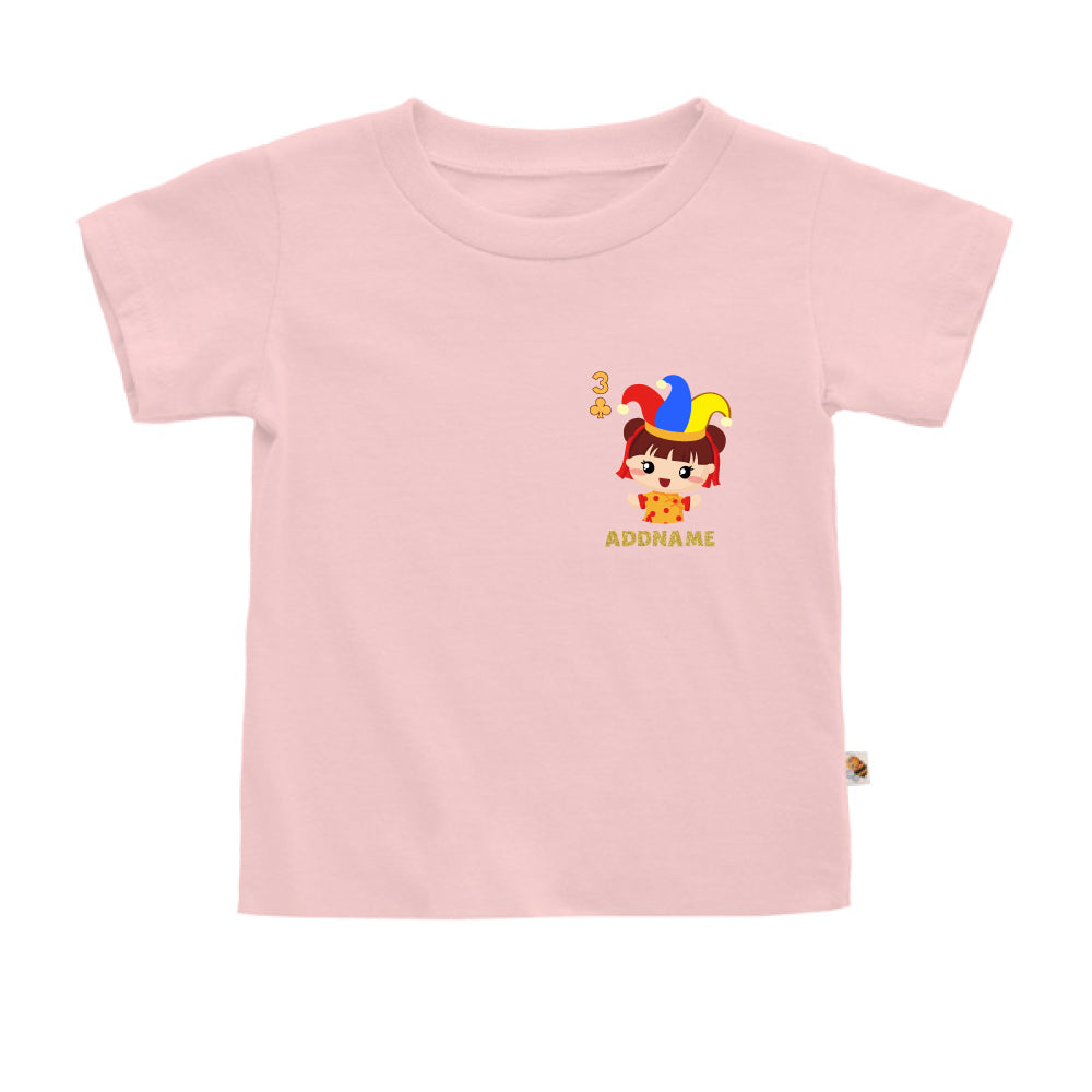 Teezbee.com - Pocket Girl 3 - Kids-T (Pink)