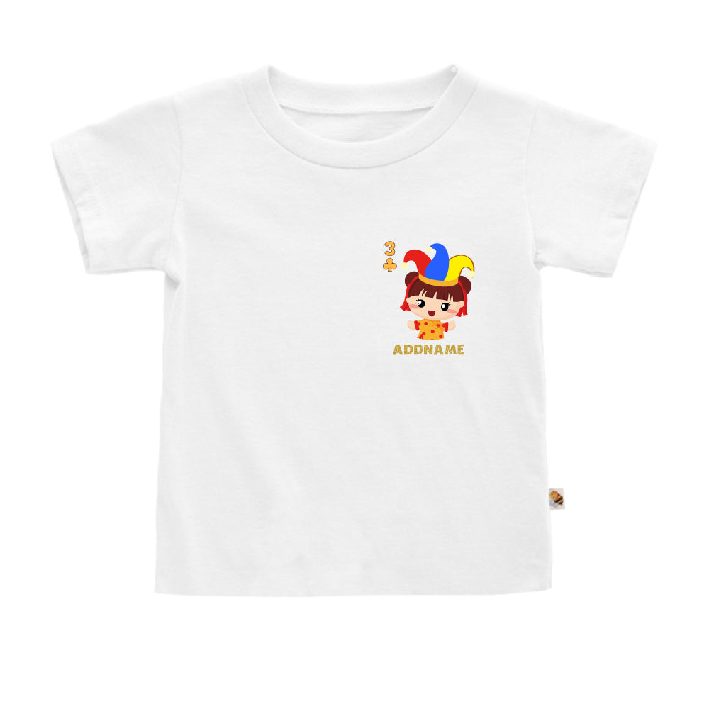 Teezbee.com - Pocket Girl 3 - Kids-T (White)