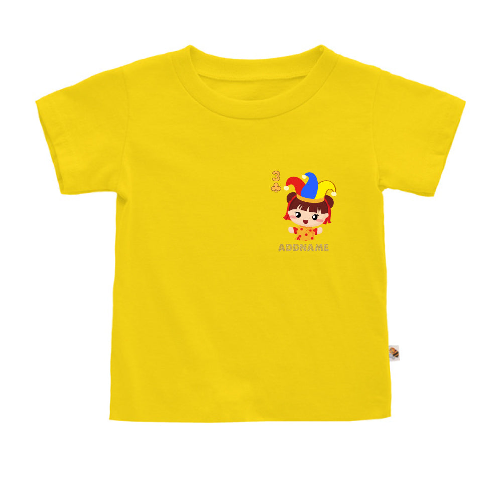 Teezbee.com - Pocket Girl 3 - Kids-T (Yellow)