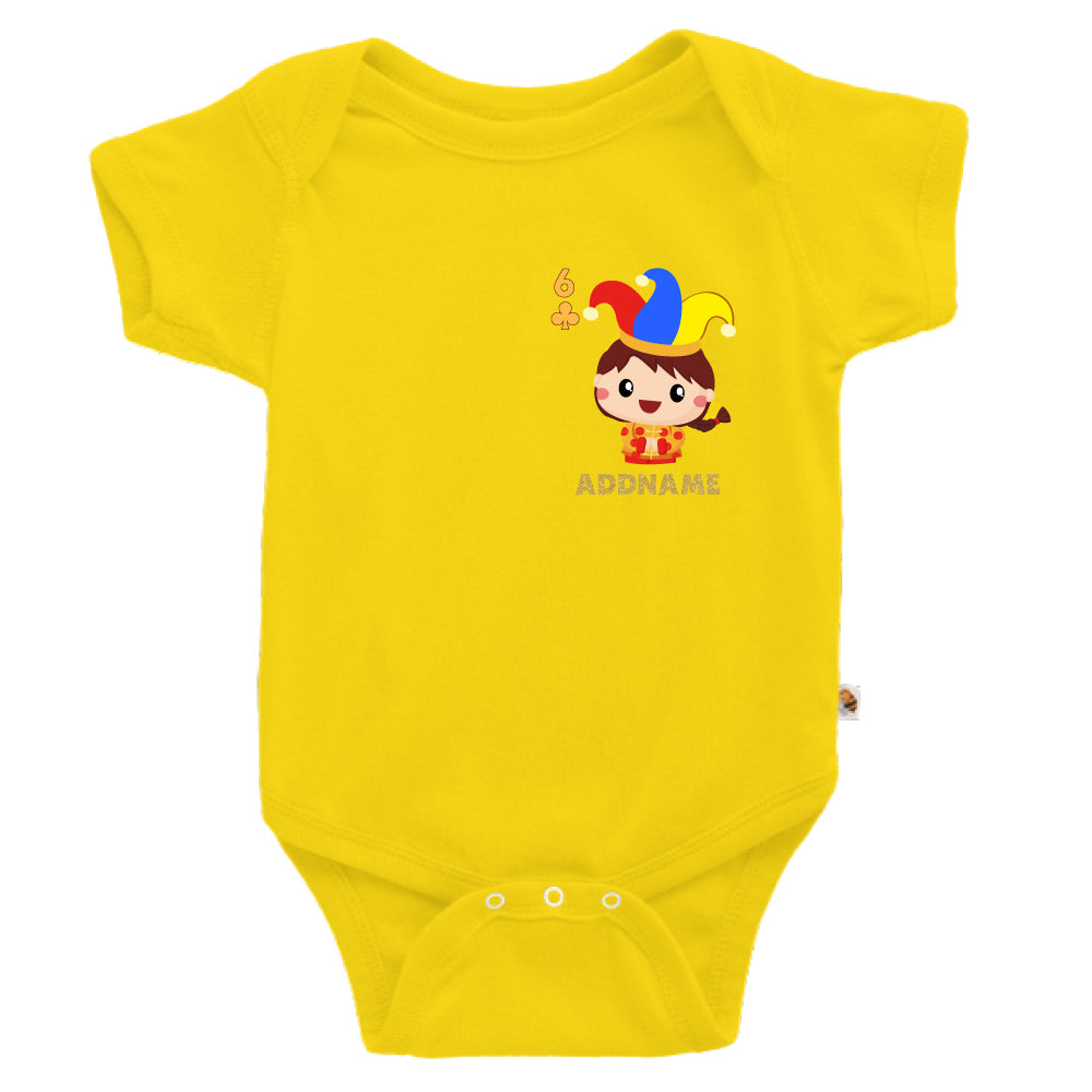 Teezbee.com - Pocket Boy 6 - Romper (Yellow)
