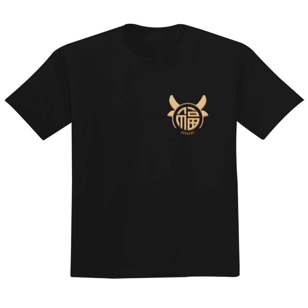 Teezbee.com - Fu Ox Embroidery - Adult-T (Black)