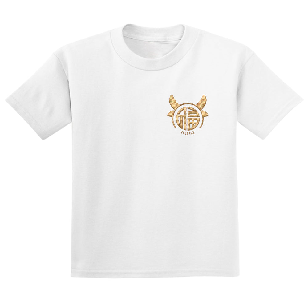 Teezbee.com - Fu Ox Embroidery - Adult-T (White)