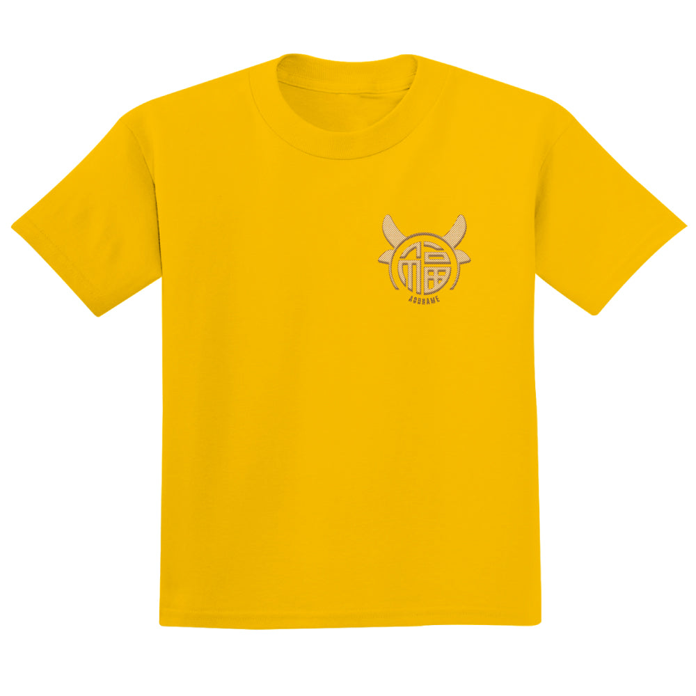 Teezbee.com - Fu Ox Embroidery - Adult-T (Yellow)