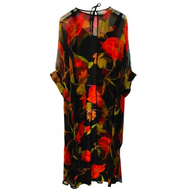 70S FLORAL COVER-UP