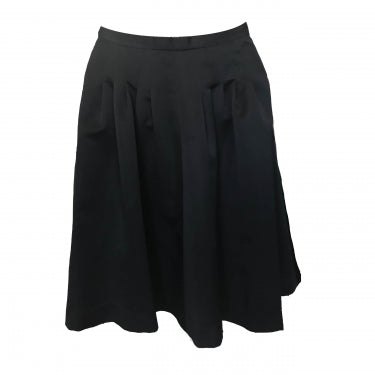 BLACK MID LENGTH SKIRT