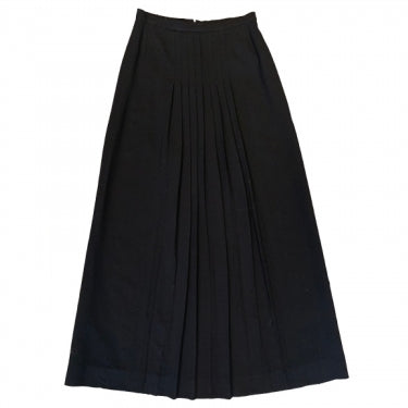 BLACK WOOL MAXI-SKIRT