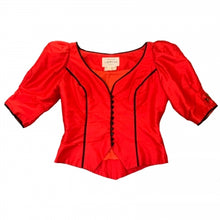 Load image into Gallery viewer, CAROLINE CHARLES RED CORSET TOP