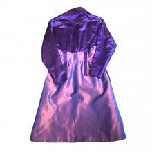 Load image into Gallery viewer, CHRISTIAN LACROIX PURPLE SATIN DRESS