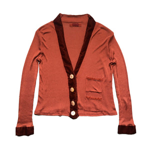 VINTAGE VOYAGE BURNT ORANGE CARDIGAN