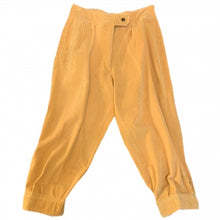 Load image into Gallery viewer, CROPPED YELLOW CORDUROY TROUSERS