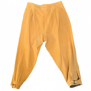 CROPPED YELLOW CORDUROY TROUSERS