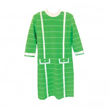 Load image into Gallery viewer, KNIT GREEN STRIPED DRESS