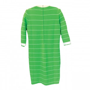 KNIT GREEN STRIPED DRESS