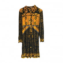 Load image into Gallery viewer, LEONARDS FASHIONS BLACK AND YELLOW PRINTED DRESS