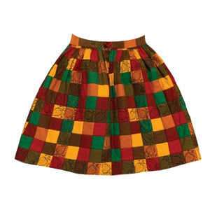 PATCHWORK HIPPY SKIRT