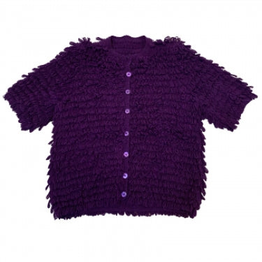 PURPLE FRILLY CARDIGAN