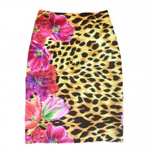Load image into Gallery viewer, VERSACE FLORAL/LEOPARD PRINT SKIRT