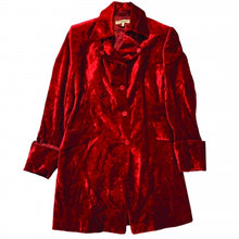 Load image into Gallery viewer, VINTAGE KATHARINE HAMNETT RED VELVET COAT