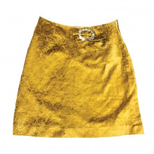 Load image into Gallery viewer, VINTAGE YELLOW VELVET SKIRT