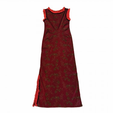 VOYAGE RED FRINGE DRESS